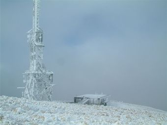 Kordia site Mt Egmont - winter